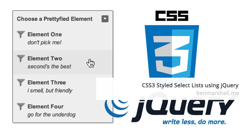 Cross-Browser CSS Styled Select Lists | Ben Marshall