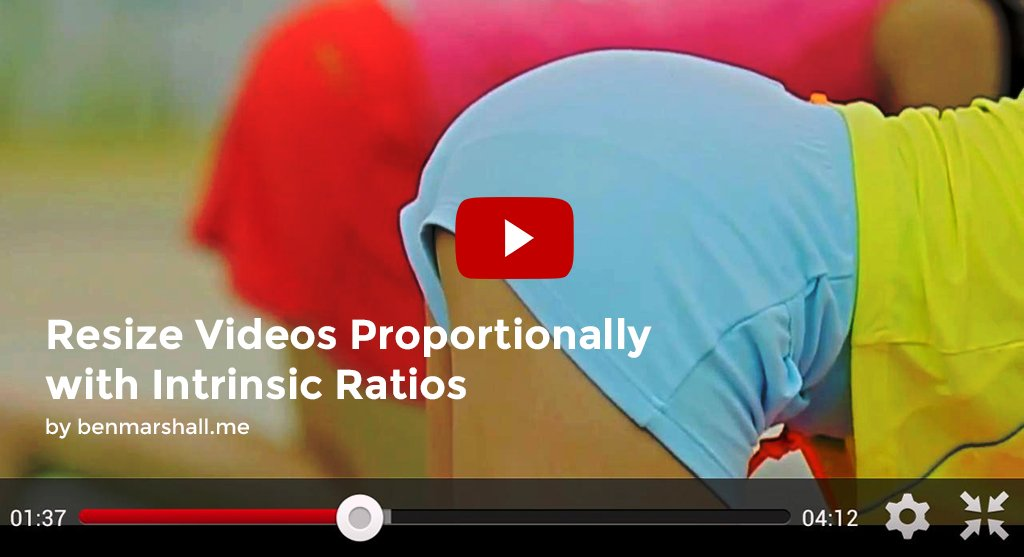 Resize Videos Proportionally with Intrinsic Ratios