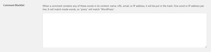 Stop WordPress spam with blacklisted words